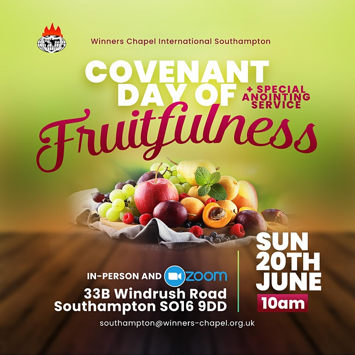 Covenant Day of Fruitfulness  and Special Monthly Anointing Service image