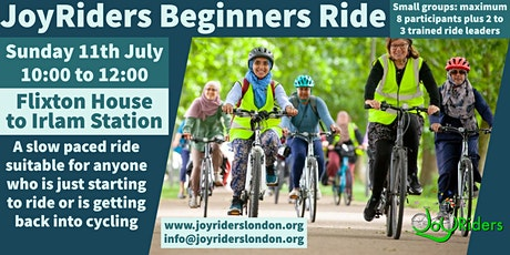Beginners Ride:   Flixton House to Irlam Station tickets