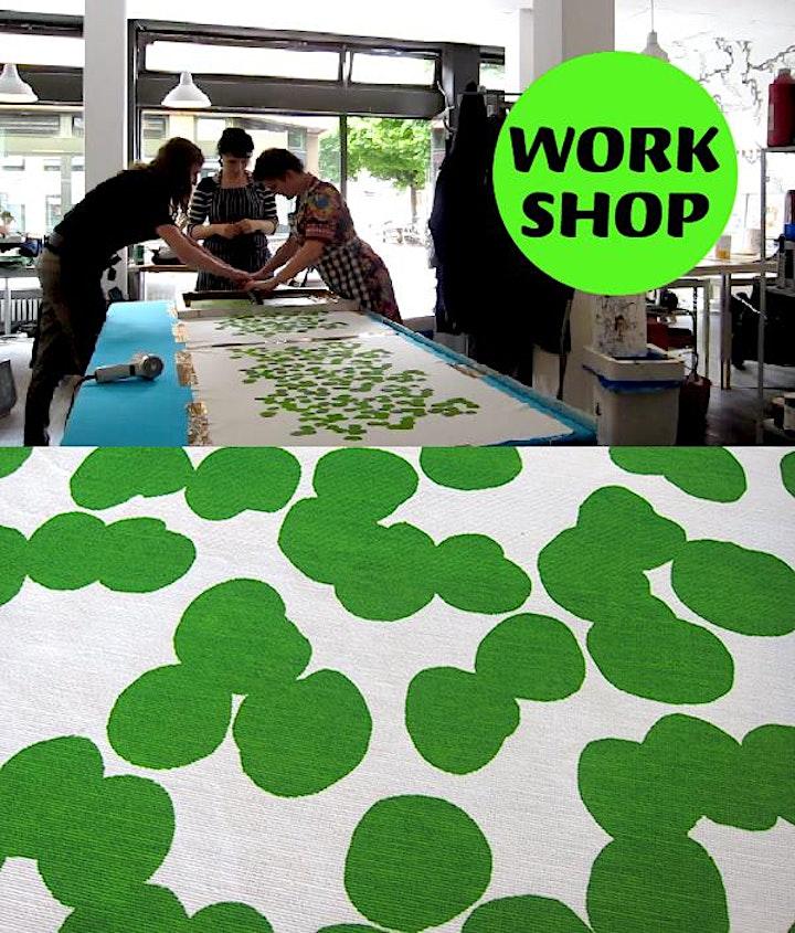 Musterdruckkurs - Siebdruckkurs für großflächige Textildrucke: Bild