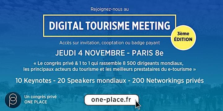 Image pour DIGITAL TOURISME MEETING 2020 - édition 3  #etourisme