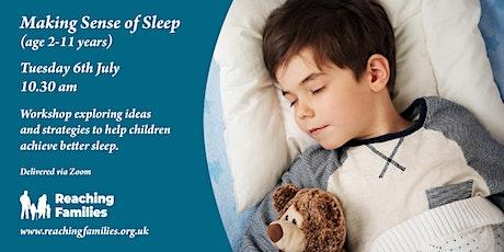 Making Sense of Sleep (for children 2-11 years) tickets