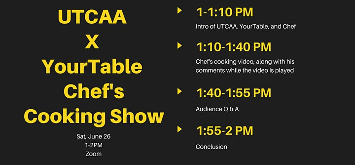 UTCAA x YourTable Professional Chef's Cooking Event with Q&A image