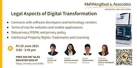 MWKA Online Talk-Legal Aspects of Digital Transformation tickets