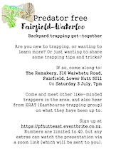 Predator free Fairfield-Waterloo trapping get-together tickets