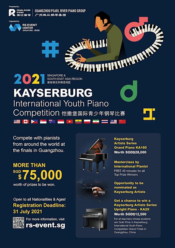 Kayserburg International Youth Piano Competition 2021 - Singapore image