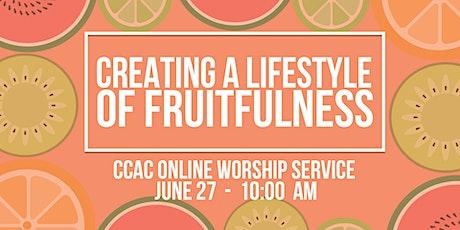 CCAC Worship Service | June 27 | 10 AM tickets