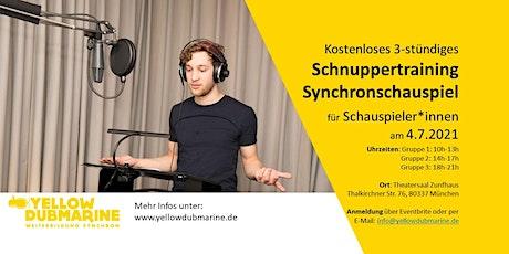 Schnuppertraining Synchronschauspiel (München) tickets