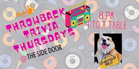 Throwback Trivia @ The Side Door Bar tickets