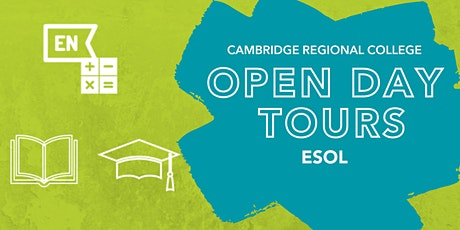 ESOL Open Day Tours tickets