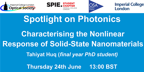 Webinar: Characterising the Nonlinear Response of Solid-State Nanomaterials biglietti