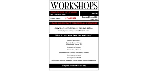 Photography Workshop - Manual Exposure tickets