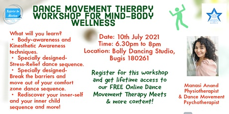 Dance Movement Therapy Workshop for Mind-Body Wellness tickets