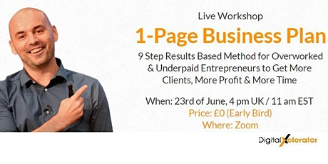 1-Page Business Plan Live Workshop tickets