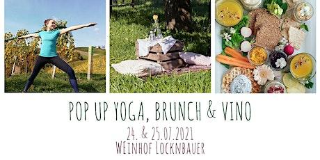 Pop Up Yoga, Brunch & Vino Tickets