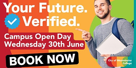 Open Day at City of Westminster College / Wednesday 30th June 2021 tickets