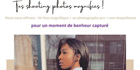 Shooting photos : Un Lieu magnifique + Photographe Pro + Maquilleuse billets