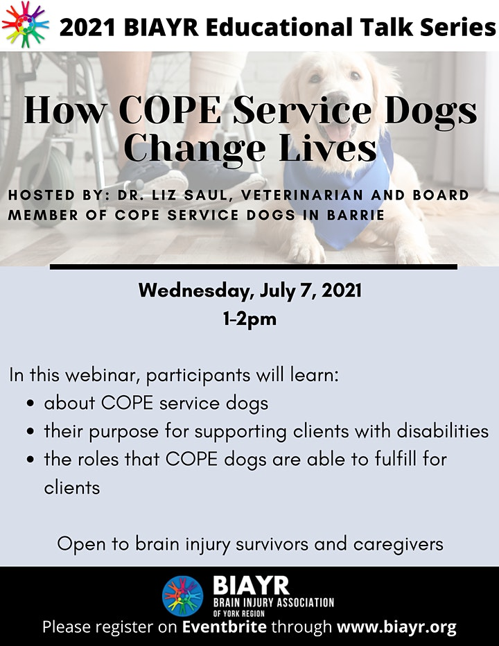 How COPE Service Dogs Change Lives - 2021 BIAYR Educational Talk Series image