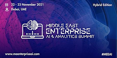 Middle East Enterprise AI & Analytics Summit tickets