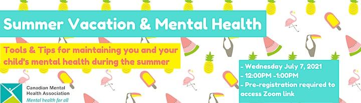 Summer Vacation & Mental Health Webinar image