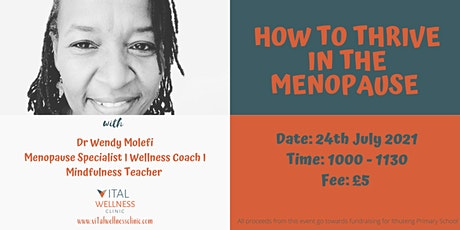 How to thrive in the menopause tickets