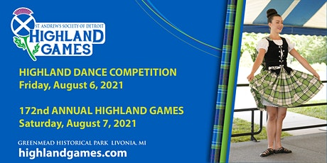 St. Andrew's Society of Detroit Highland Games Highland Dance Registration tickets