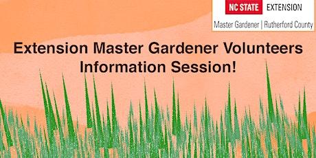 Rutherford Master Gardener Volunteer Program Information Session tickets