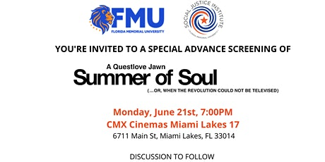 Special Advanced Screening: Summer of Soul by Questlove tickets