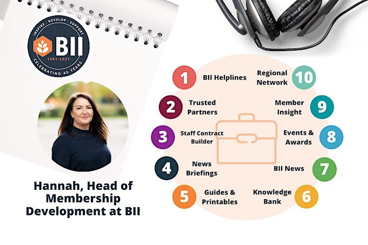 BII Member Benefits Webinars - Monday 2nd August - 10am image