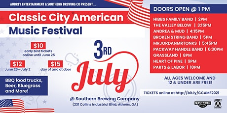 Classic City American Music Festival tickets