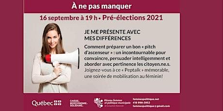 Pré-élections 2021 -  Je me présente avec mes différences billets