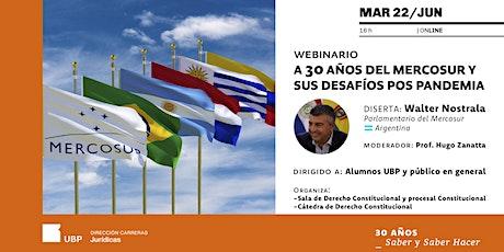 Webinario: A 30 años del Mercosur y sus desafíos pos pandemia entradas