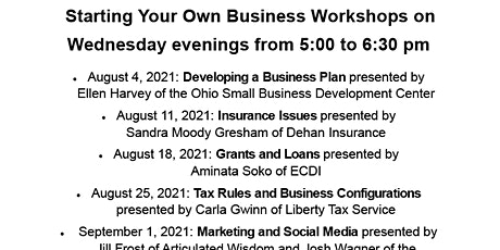 Start Your Own Business: Developing a Business Plan tickets