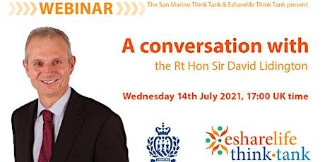 A conversation with the Rt Hon Sir David Lidington tickets