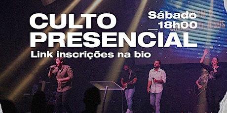 CULTO DE JOVENS/ADOLESCENTES- SÁBADO 18h30 ingressos