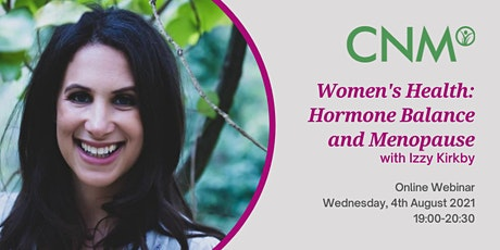 CNM Health Talk: Women's Health: Hormone Balance and Menopause tickets