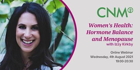 CNM Ireland: Women's Health: Hormone Balance and Menopause tickets