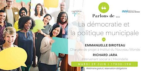 Démocratie et politique municipale tickets