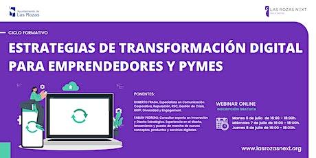 Webinar Emprende: Estrategias de transformación digital I entradas