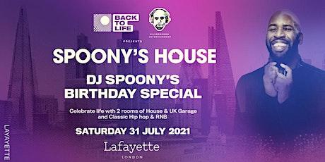 Spoony's House - The Return (DJ Spoony's Birthday Special) tickets