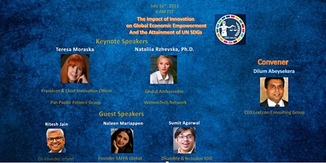 The Impact of Innovation  on Global Economic Empowerment-UN SDGs tickets