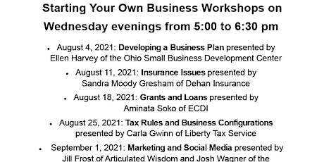 Start Your Own Business: Grants and Loans tickets