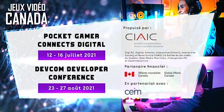 VIDEO GAME CANADA  - Pocket Gamer Connects Digital & DevCom Dev. Conference image