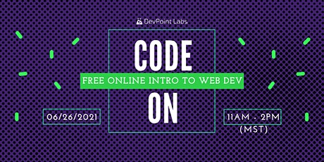 CODE ON - Online Intro to Web Development | HTML/CSS tickets