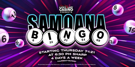 Bingo at Larry Flynt's Lucky Lady Casino tickets