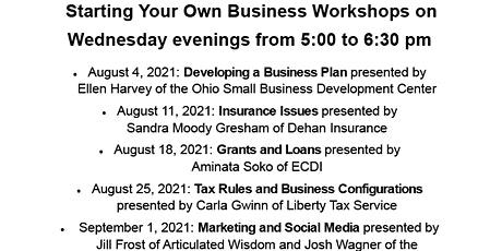Start Your Own Business: Marketing and Social Media tickets