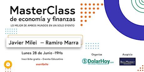 MasterClass de ECONOMÍA y FINANZAS con JAVIER MILEI y RAMIRO MARRA ingressos