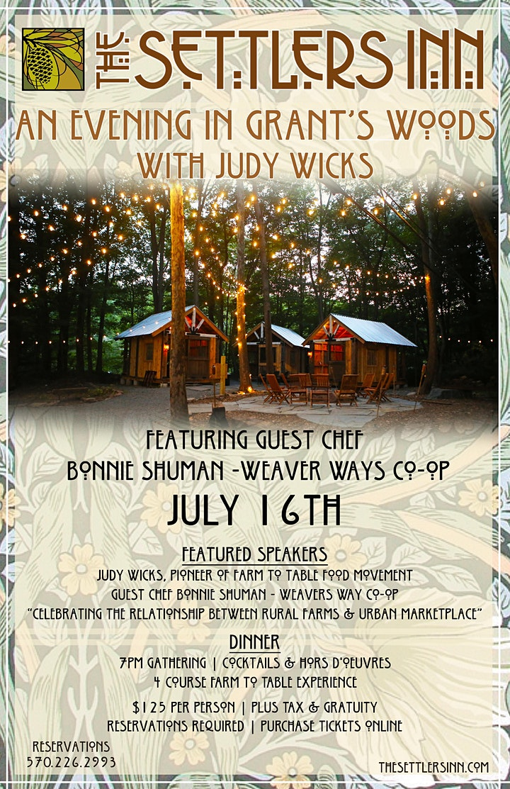 An Evening in Grant's Woods with Judy Wicks image