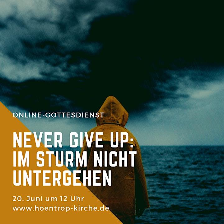 Online-Gottesdienst: Never give up - Im Sturm nicht untergehen: Bild