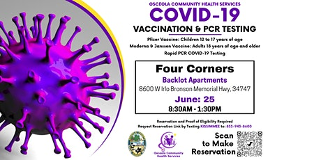 West Kissimmee COVID-19 Vaccination and Testing Event tickets