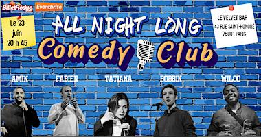 All night long comedy club